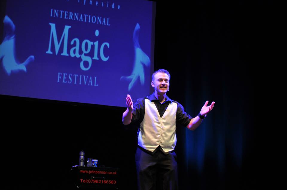 corporate stage magician