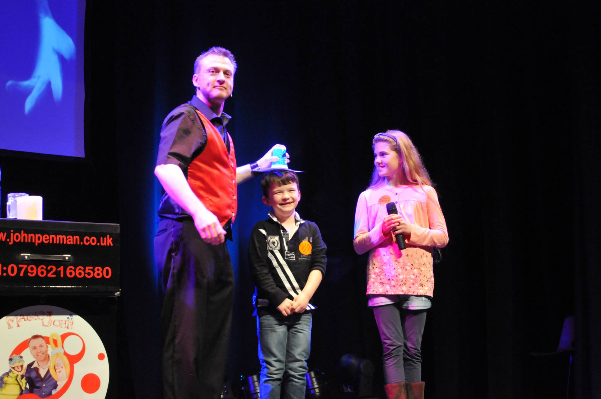 corporate children's stage magic shows - John Penman
