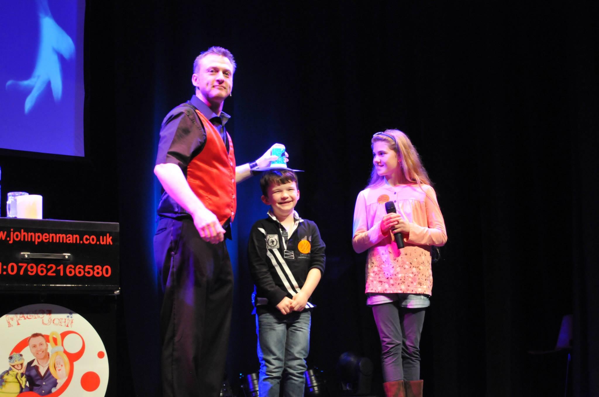 corporate children's stage magic shows - John Penman